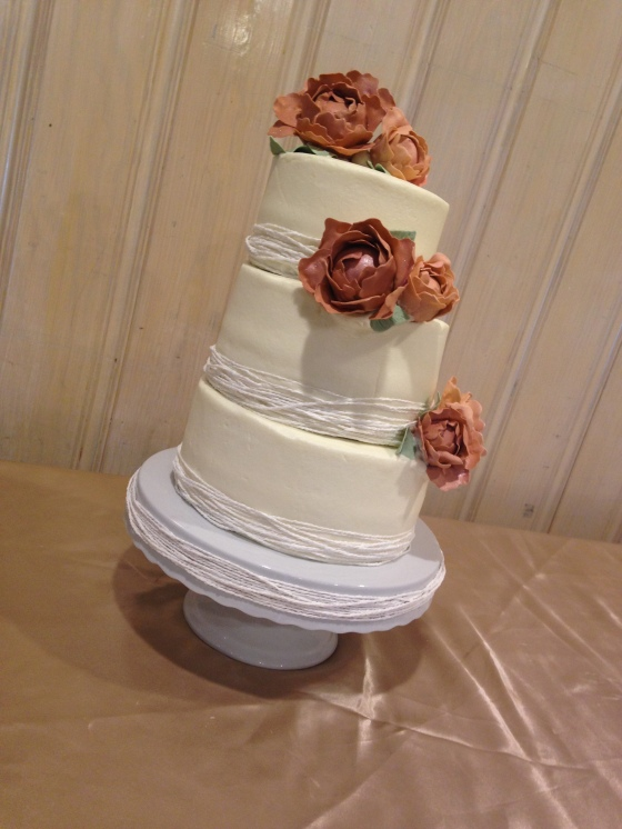 Fair Peony Wedding Cake