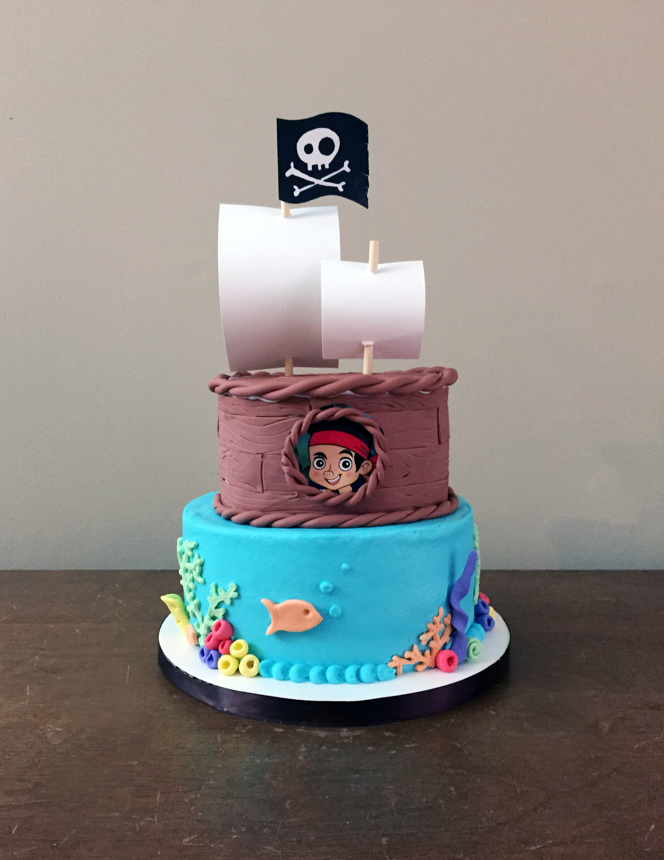 Jake And Neverland Pirates Caked Custom Cakes And Cupcakes