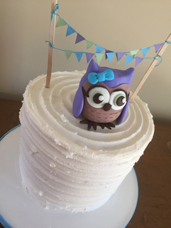 Owl Cake Down View